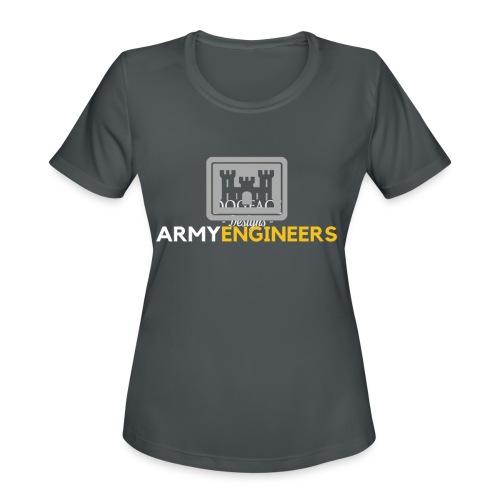 Army: Engineer Branch - Women's Moisture Wicking Performance T-Shirt