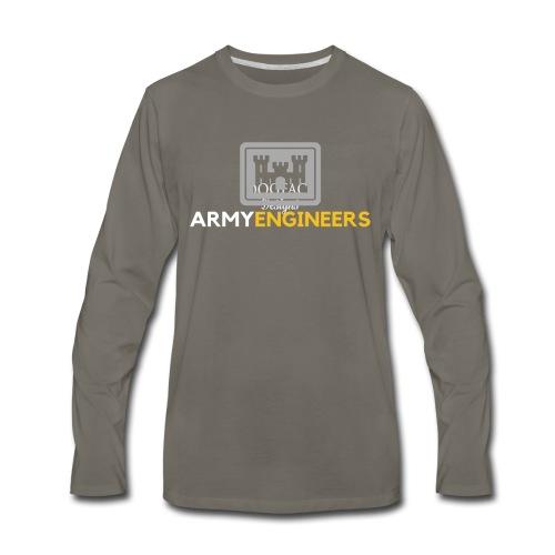 Army: Engineer Branch - Men's Premium Long Sleeve T-Shirt