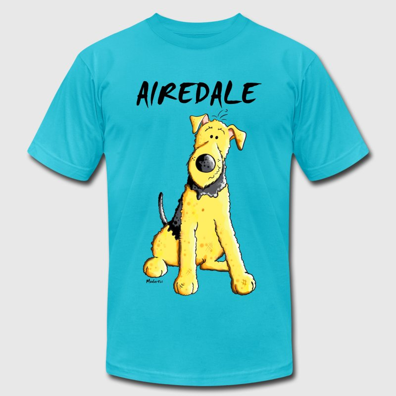 Funny Airedale Terrier T-Shirts - Men's T-Shirt by American Apparel