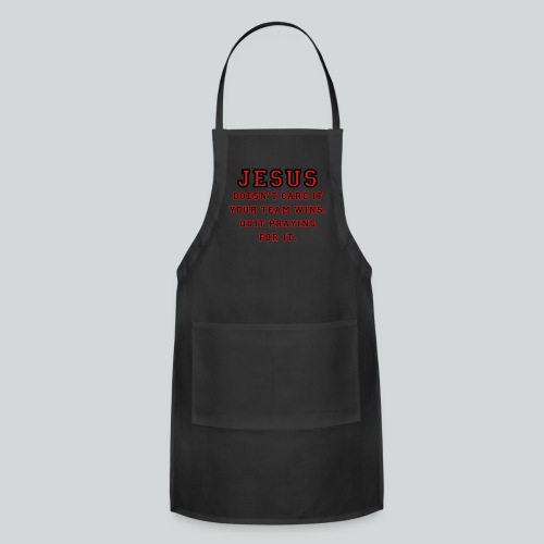 Jesus: Not a Sports Fan  - Adjustable Apron