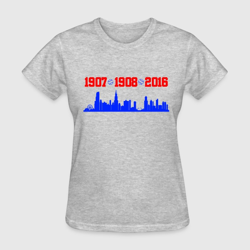 cubs chicago skyline T-Shirts - Women's T-Shirt
