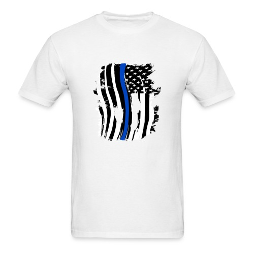 Thin Blue Line Flowy Tank - Men's T-Shirt