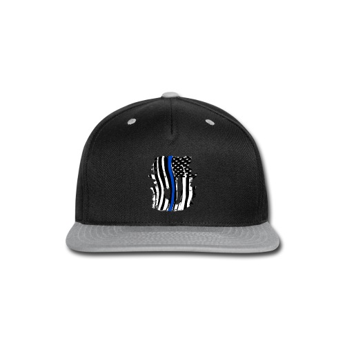 Thin Blue Line Flowy Tank - Snap-back Baseball Cap