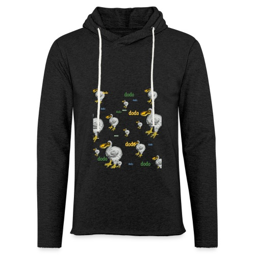 Dodo Bird Pattern  - Unisex Lightweight Terry Hoodie