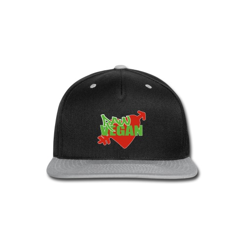 Raw Vegan Heart Vintage Tee  - Snap-back Baseball Cap