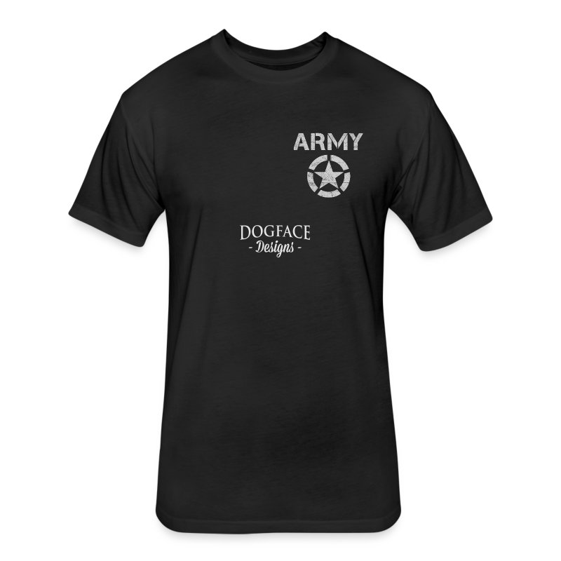 Old Army/Veteran (Armor) - Fitted Cotton/Poly T-Shirt by Next Level