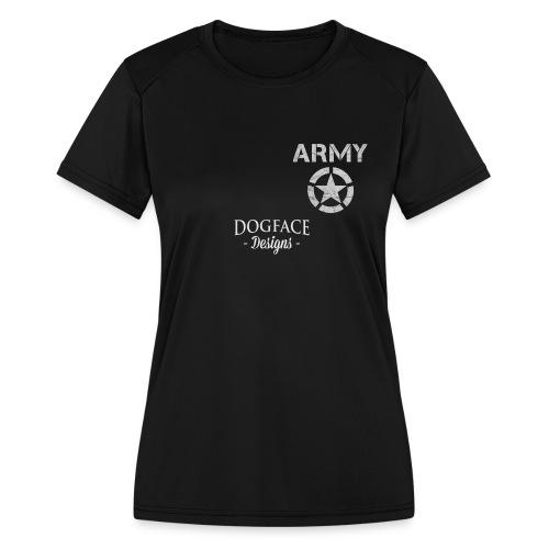 Old Army/Veteran (Armor) - Women's Moisture Wicking Performance T-Shirt