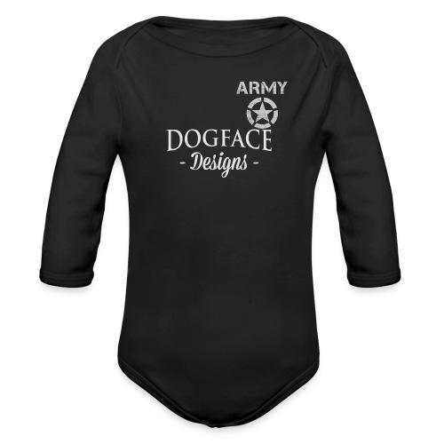 Old Army/Veteran (Armor) - Organic Long Sleeve Baby Bodysuit