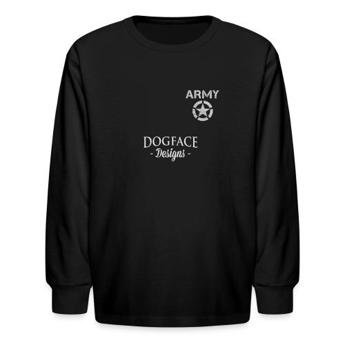 Old Army/Veteran (Armor) - Kids' Long Sleeve T-Shirt