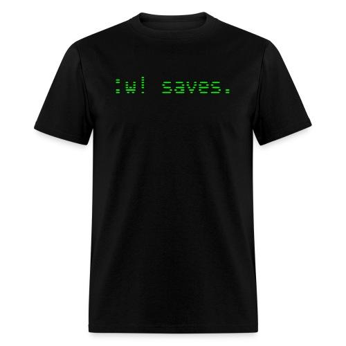 :w! saves - Men's T-Shirt