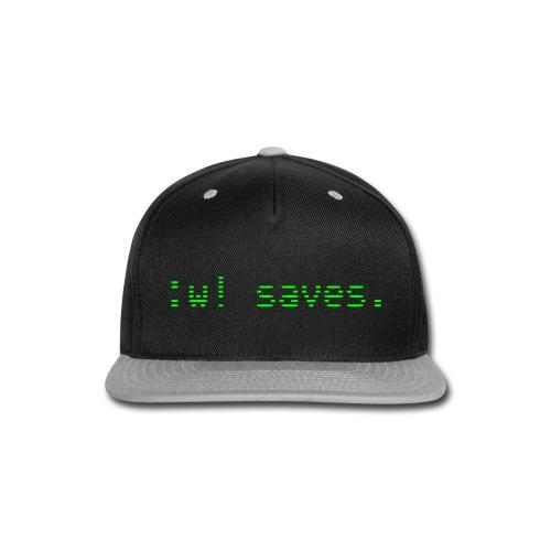 :w! saves - Snap-back Baseball Cap