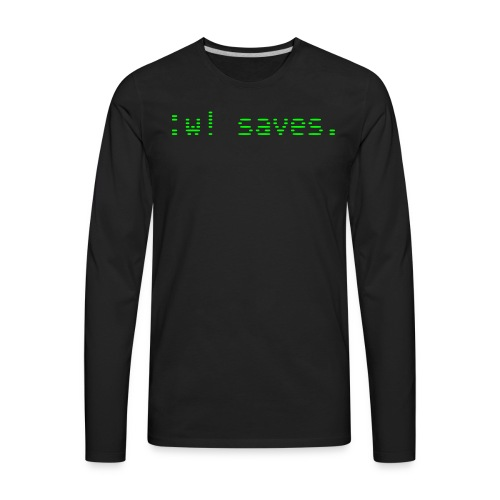 :w! saves - Men's Premium Long Sleeve T-Shirt