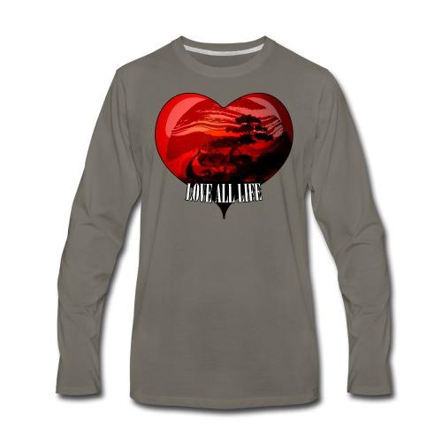 Love All Life Vintage Tee - Men's Premium Long Sleeve T-Shirt