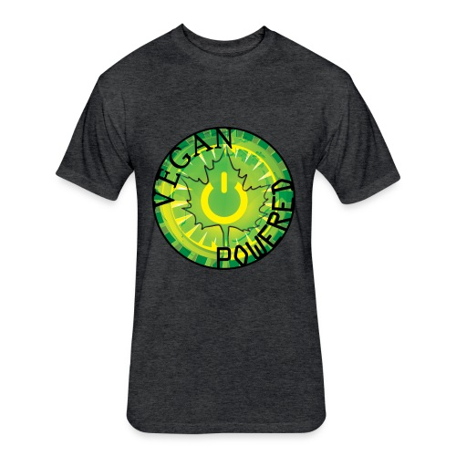 Vegan Power Button Vintage Tee - Fitted Cotton/Poly T-Shirt by Next Level