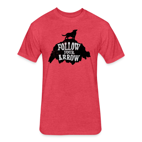 Follow Your Arrow - Fitted Cotton/Poly T-Shirt by Next Level