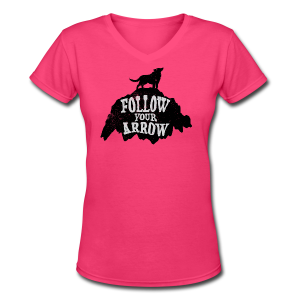 Follow Your Arrow - Women's V-Neck T-Shirt