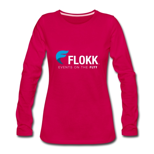 Ladies Flokk Logo T-Shirt - Women's Premium Long Sleeve T-Shirt