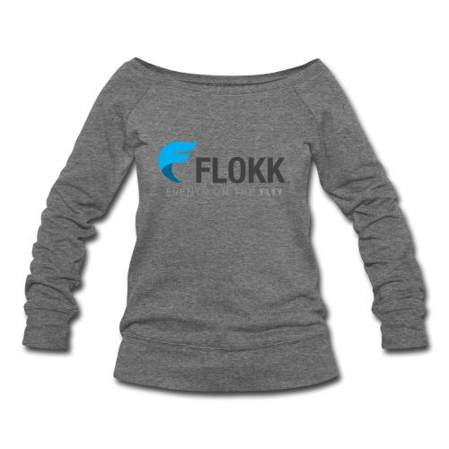 Ladies Flokk Logo T-Shirt - Women's Wideneck Sweatshirt