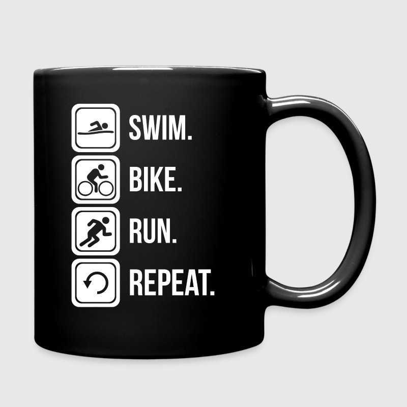 Swim. Bike. Run. Repeat. Mugs & Drinkware - Full Color Mug
