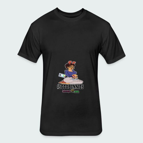 #Sotobunnies - Fitted Cotton/Poly T-Shirt by Next Level