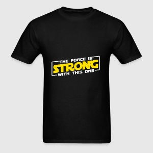 The Force Is Strong With This One - Yellow Hoodies - Men's T-Shirt