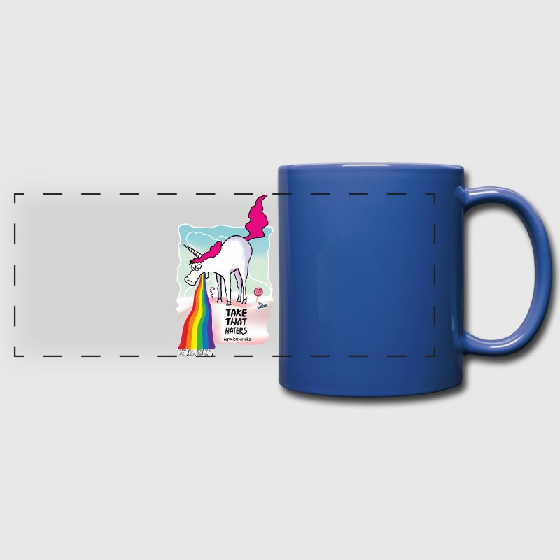 Unicorn vomiting rainbow Mugs & Drinkware - Full Color Panoramic Mug