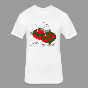 Jingle Balls for Men - Fitted Cotton/Poly T-Shirt by Next Level