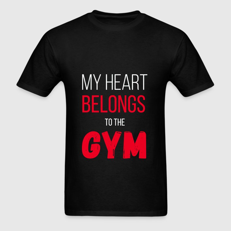 My heart belongs to the gym - Men's T-Shirt