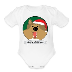 Holly the Collie Christmas - Mens T-shirt - Short Sleeve Baby Bodysuit