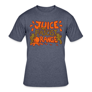 Juice the Fascist Orange - Purple - Men's 50/50 T-Shirt