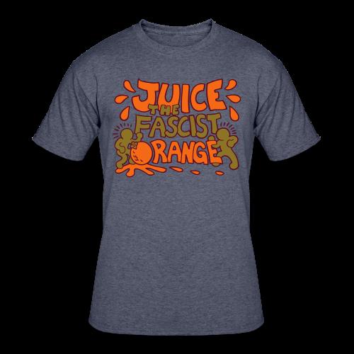 Juice the Fascist Orange - Purple - Men's 50/50 T-Shirt
