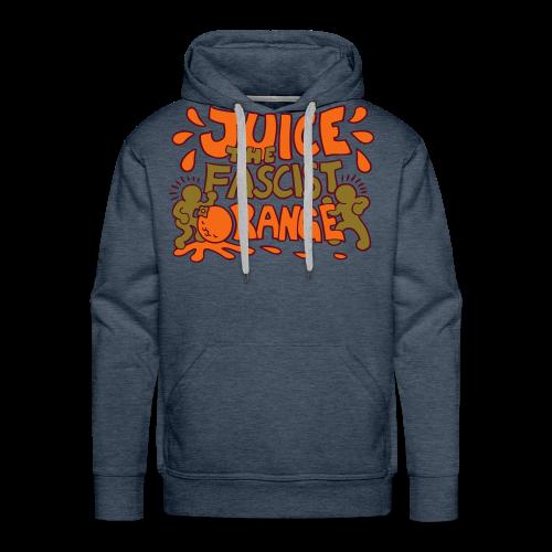 Juice the Fascist Orange - Purple - Men's Premium Hoodie