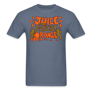 Juice the Fascist Orange - Purple - Men's T-Shirt