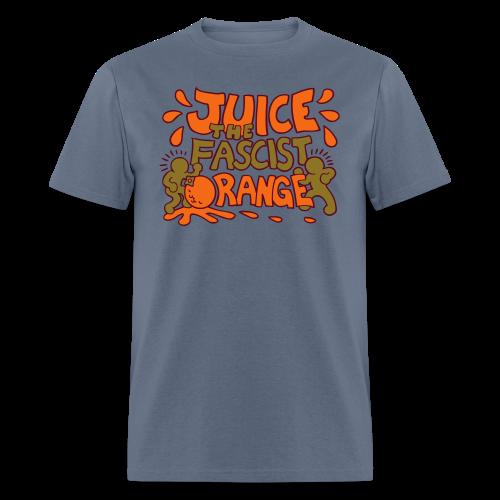 Juice the Fascist Orange - Purple - Men's T-Shirt