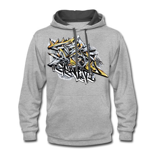 Q2 - Design for New York Graffiti Color Logo - Contrast Hoodie