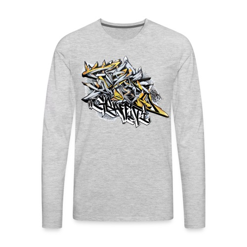 Q2 - Design for New York Graffiti Color Logo - Men's Premium Long Sleeve T-Shirt