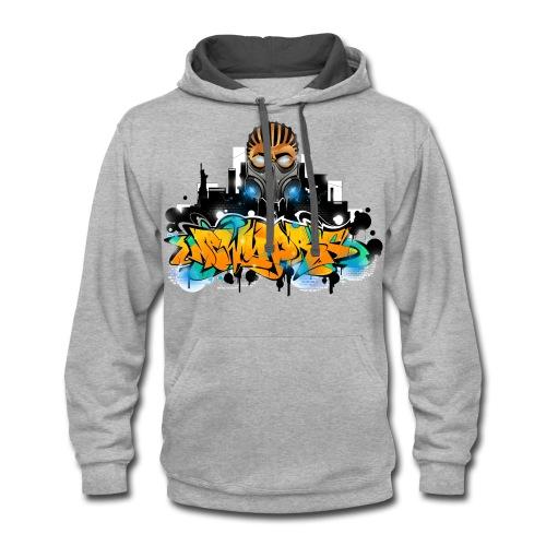 2.ezy - Design for New York Graffiti Color Logo - Contrast Hoodie