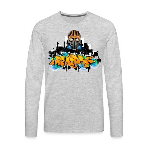 2.ezy - Design for New York Graffiti Color Logo - Men's Premium Long Sleeve T-Shirt