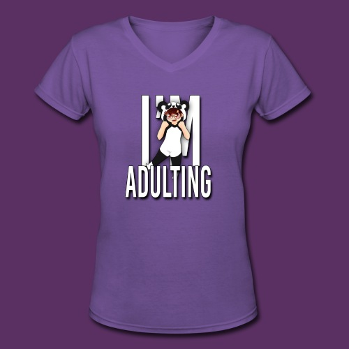 Adulting Female - Women's V-Neck T-Shirt