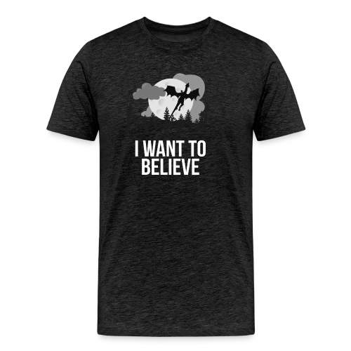 I want to believe... in dragons! T-shirt (Unisex) - Men's Premium T-Shirt