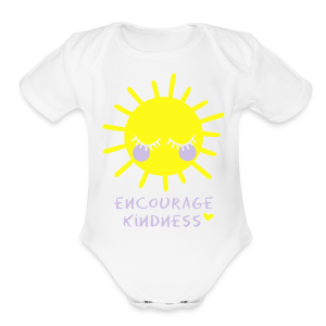 Encourage Kindness with Sun - Short Sleeve Baby Bodysuit