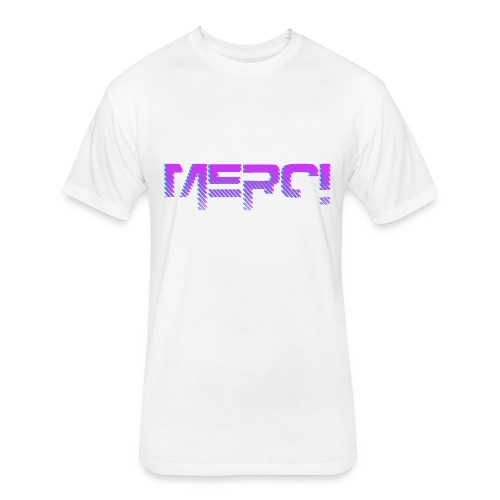 Merci Pink NB - Fitted Cotton/Poly T-Shirt by Next Level