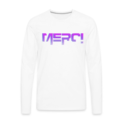 Merci Pink NB - Men's Premium Long Sleeve T-Shirt