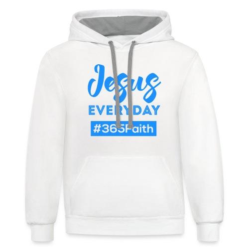 Jesus Everyday - Male - Contrast Hoodie