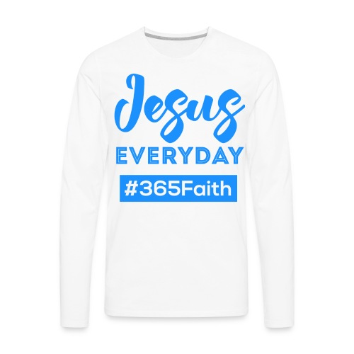Jesus Everyday - Male - Men's Premium Long Sleeve T-Shirt