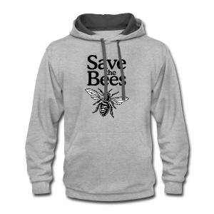 Save The Bees (bicolor) S-5X T-Shirt - Contrast Hoodie