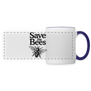 Save The Bees (bicolor) S-5X T-Shirt - Panoramic Mug