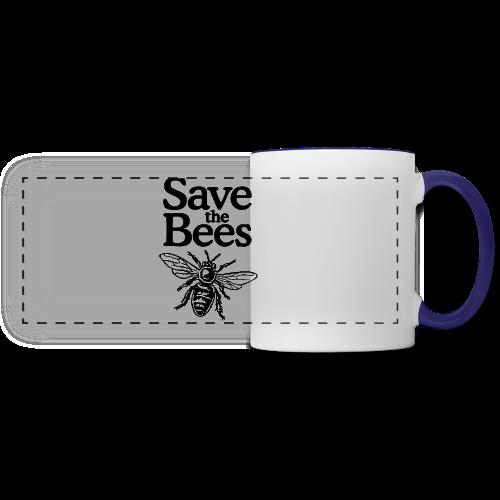 Save The Bees (bicolor) S-5X T-Shirt - Panoramic Mug
