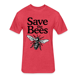 Save The Bees (bicolor) S-5X T-Shirt - Fitted Cotton/Poly T-Shirt by Next Level