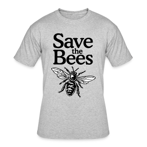 Save The Bees (bicolor) S-5X T-Shirt - Men's 50/50 T-Shirt